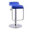 Blue Modern Adjustable Bar Stool