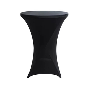 Portable Stretch Fabric Cover Black Standing Table