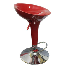 Glossy Finish Red Gas Lift Bar Stools D-E0053