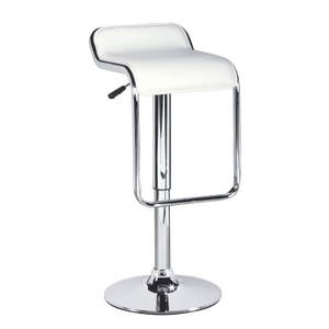 White Modern Adjustable Bar Stool