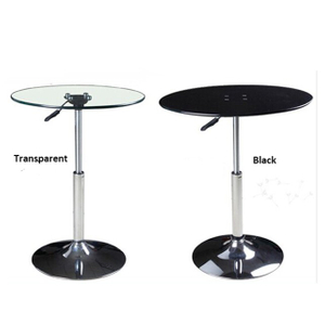 Height Adjustable Round Glass Desk