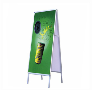 Double Sided Aluminium Poster Stand D-S003 for Supermarket