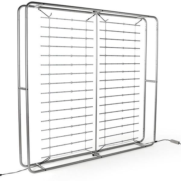 10' Portable Aluminum Pipes Trade Show Backlit Wall with Counter