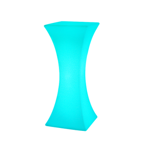 LED Illuminated Portable Stretch Fabric Cover Standing Table