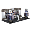 Portable Pipe Stretch Fabric Trade Show Exhibit Displays 10x20