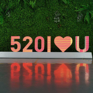 Free Standing Magnetic Led Video Letter Display for Special Moment