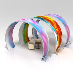 Arched Double Sided Silicone Edge Graphics Tension Fabric System Archway