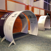 Free Standing Aluminum Arch Tension Fabric System Tunnel