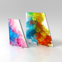 Office Decoration Display Aluminum Trapezoidal Frameless Light Box