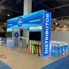 Customized Aluminum Extrusion Fabric Trade Show Booth with Illuminating Desk