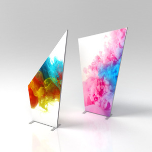 Custom Shape Aluminium Frameless Fabric Light Box Display