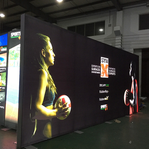 20'x8' Double Sided Free Standing Trade Show Backlit Display Walls