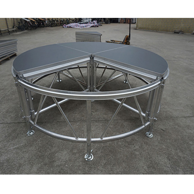 Height Adjustable Easy Setup Aluminum Modular Round All-terrain Staging Assembly